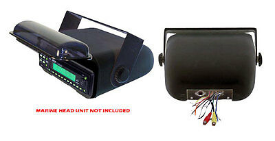 PYLE PLMRCB3 Universal Marine Stereo Housing w/Full Chassis Wired Casing (Black)