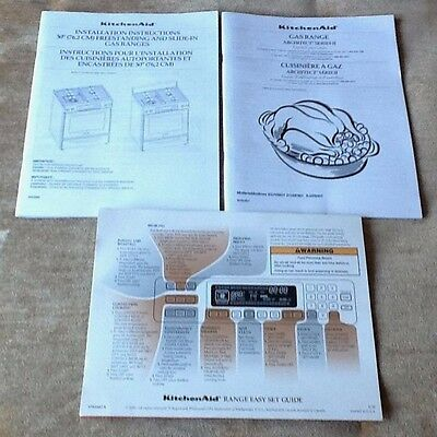 KitchenAid Gas Range Use Care Guide Architec Series II Installation Instruction