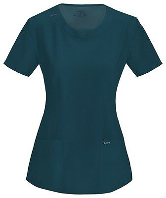 Scrubs Cherokee Infinity Round Neck Top 2624A PWPS Pewter FREE SHIPPING!
