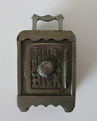 Coin Deposit Cast Iron Antique Working Combination Safe Bank