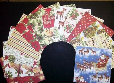 """*MAGICAL CHRISTMAS*   Scrapbooking/Cardmaking Papers  *15cm x 15cm (6"""" x 6"""")"""