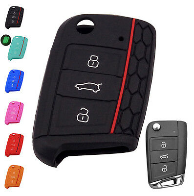 Fit For Vw Golf Mk7 Skoda Octavia Seat Silicone Key Remote Cover Case Fob Hull