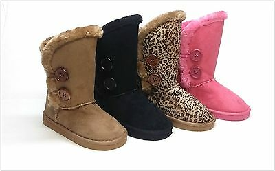 Brand New Kids Girls Winter Fashion Boots Size 9 - 4 Four Colors