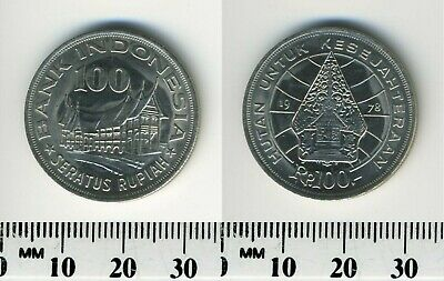 Indonesia 1978 - 100 Rupiah Copper-Nickel Coin - Forestry for prosperity