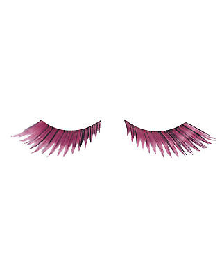 Morris Costumes Eyelashes Feather Pink. EA82