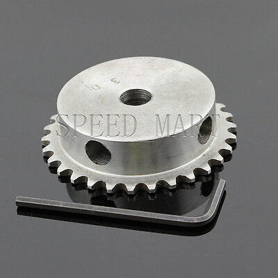 10mm Bore 30 Teeth 30T Metal Pilot Motor Gear Roller Chain Drive Sprocket