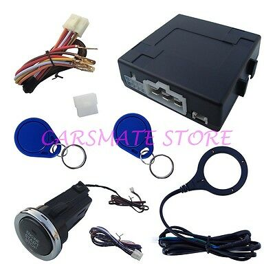 Newest RFID Car Alarm System With Long Push Button Remote Engine Start Stop