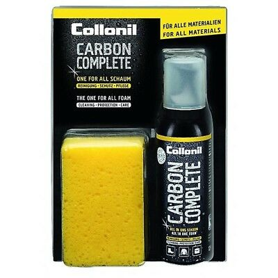 Collonil CARBON COMPLETE Waterproof Leather Fabric Cleaning Spray Foam Kit 125ml