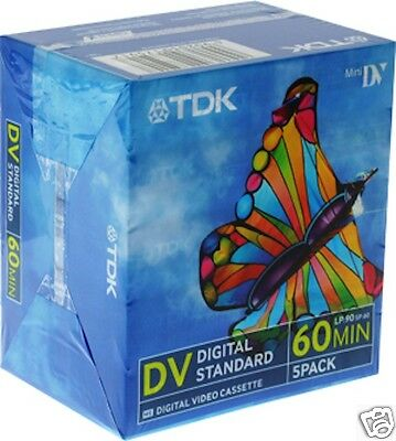 100 PACK TDK DVM60 Mini DV Tape / Cassette - BRAND NEW Free Aussie Delivery