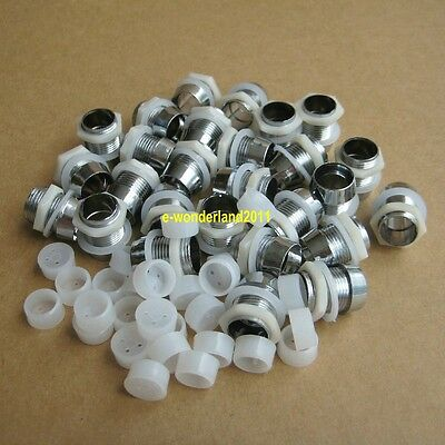 50pcs 10mm Chrome Plastics LED Bezel Holder Panel Display For Car or motorcyle