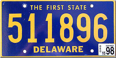 Delaware FIRST STATE License Plate