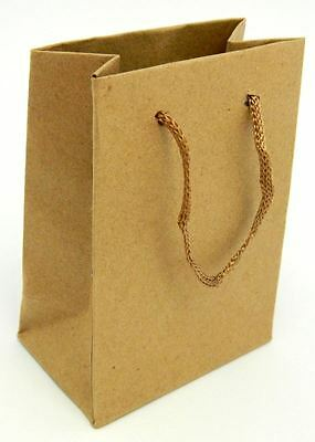 12 Pcs Luxury Party Brown Bags 11x14cm Kraft Paper Gift Bag Handles Recyclable