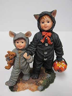 "Boyds #3585 * Yesterday's Child - ""Cathy and Miranda...First Trick or Treat"" NIB"