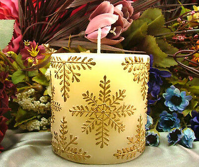 Silicone Candle Mold Cylinder Snowflakes Decoration Handmade Soap Making Tools