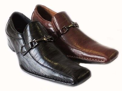 New Fashion *delli Aldo* Mens Slip On Loafers Comfort Leather Lined Dress Shoes
