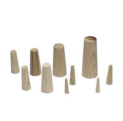PLASTIMO 16323 Pack of 9 Emergency Wooden Conical Plugs