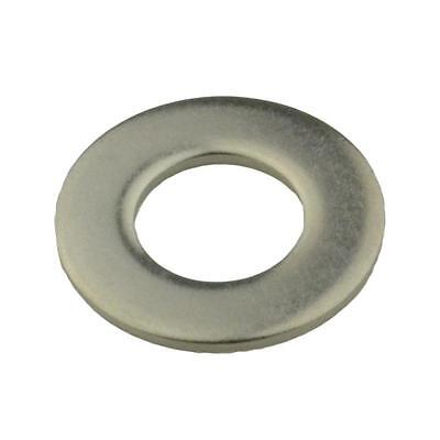 """Qty 100 Flat Washer 1/4"""" x 5/8 x 18g Imperial Stainless Steel SS 304 A2"""