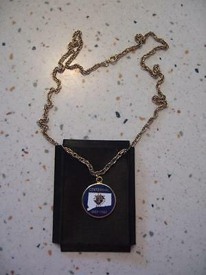 Knights Of Columbus 24 Inch Chain & Connecticut Pendant