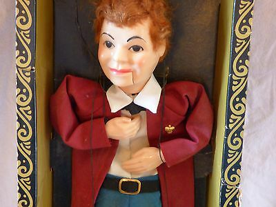 Hazelle's Marionette Vintage Talking Collegian Bob Puppet with Airplane Control