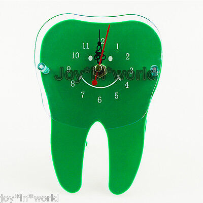 Desk Table Clock Time Tooth Shape Dental Dentistry Home Office Clinic Decor