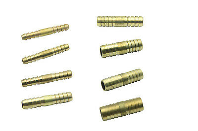 Brass Straight Hose Barbed Tail Connector Coupler Full Range Pipe Reducing