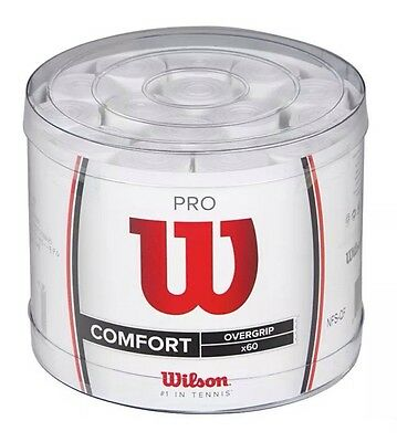 Wilson Pro Overgrip Bowl O' Grips Box Of 60 - Comfort - White - Rrp £120