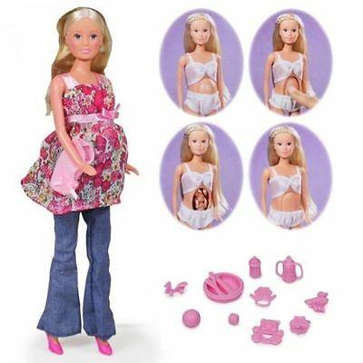 Steffi Love Welcome Baby Pregnant Doll + 13 Accessories NEW