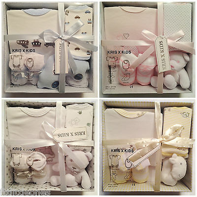 New Baby Boys Girls Gift Set,4 Piece Set,gift Box,newborn Gift,pink Blue White