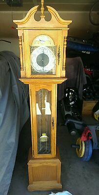 "Vintage  Emperor Chime  74"" Grandfather Clock"