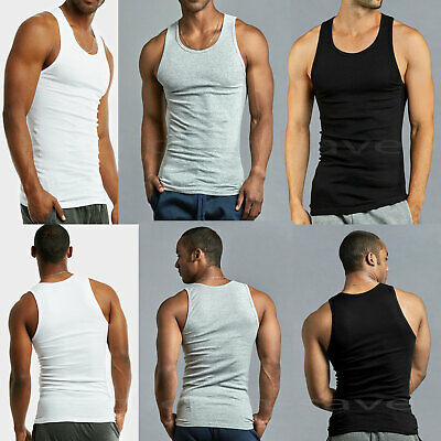 78e896aafc LOT OF 3 or 6 Men Tank Top 100% Cotton A-Shirt Lot Wife Beater ...