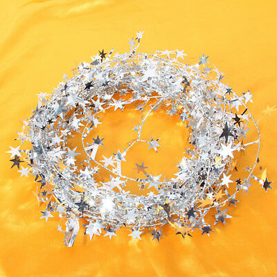 Shiny Star Garland Tinsel Wire Christmas Tree XMAS Holiday Party Home Decor
