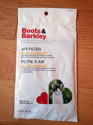 2X Cat Litter Box Air Filter Replacement by Boots & Barkley Universal