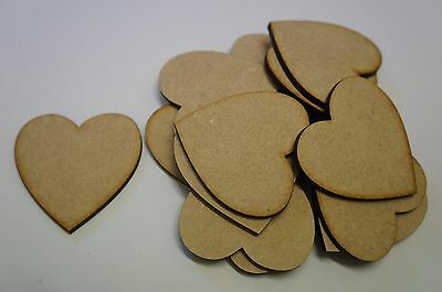 MDF WOOD HEART SHAPES 3mm LASER CUT WOODEN SHAPE DECORATION