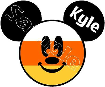 Disney Mickey Mouse Candy Corn Halloween Cruise Stateroom Door Magnet B3G1F
