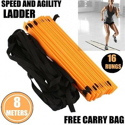Agility Ladder Speed Sport Training 8M Soccer Fitness Boxing 16 Rungs+ Bag