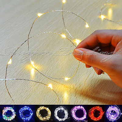 20-400Warm Led Micro Wire String Fairy Party Xmas Wedding Christmas Metal Lights