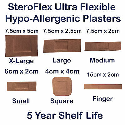 Steroplast Steroflex Genuine Flexible Stretch Fabric First Aid Wound Plasters