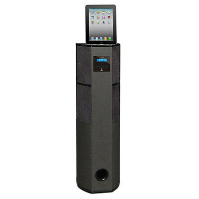 NEW Pyle PHBT98PBK 600W BLUETOOTH Tower Speaker W/ iPad/iPhone Docking & Remote