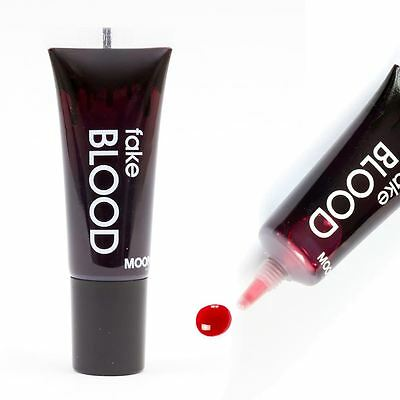Fake Blood tube - Moon Glow Halloween Vampire Zombie Makeup with applicator