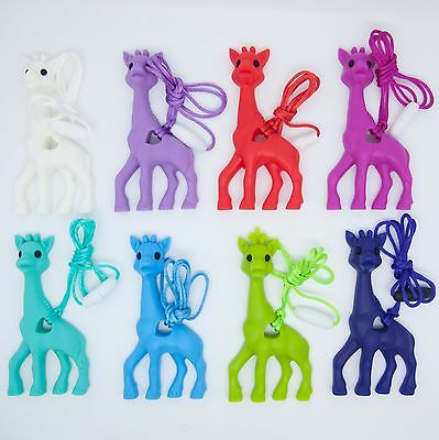 Giraffe Pendant Silicone Teething Breastfeeding Chewable Necklace