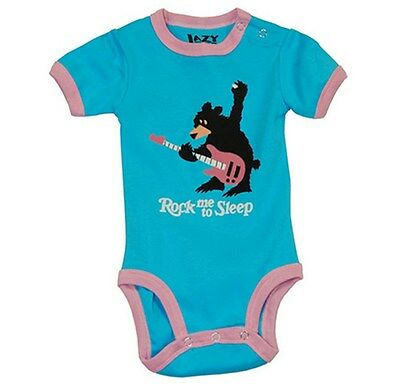 Lazy One Infant Girls Creeper One piece Pink Blue Caterpillar Cuddle Bug
