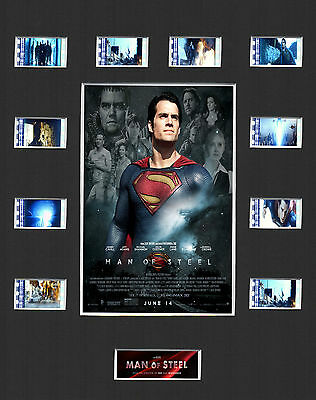 MAN OF STEEL - 2013 MOUNTED 35mm FILM MOVIE CELL GREAT GIFT