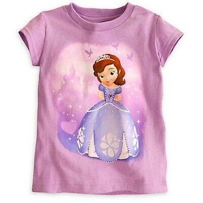 Disney Store Sofia First Tee T-Shirt Nwt Practice Makes Perfect Glitter Accents