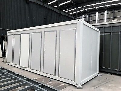 Shower Block - Prefabricated 6 cubicle shower room - New