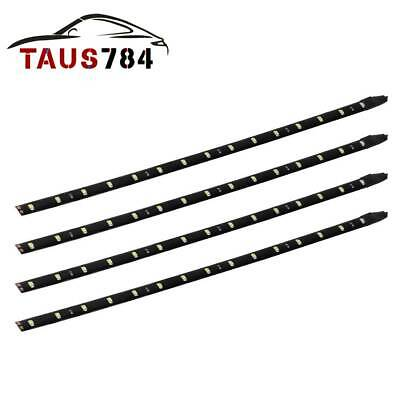 4x NEW Waterproof 15LED 30cm 12'' Car Lighting Flexible Light Lamp Strip White