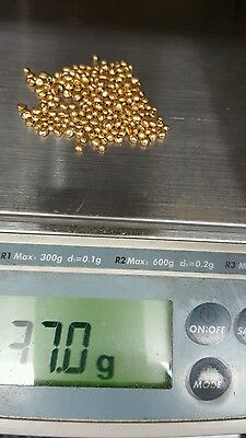 .5 GRAM PURE 24K GOLD SHOT NUGGETS Refined pure gold w glass bottle