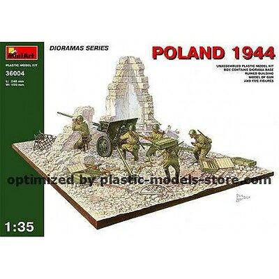 1/35 Poland 1944 Diorama Base + Gun + Crew 5Fig. Miniart 36004