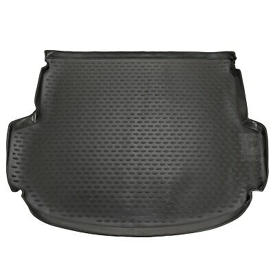 Hyundai Santa Fe Mk.3 5 Seater 12-16 Rubber Boot Liner Fitted Black Floor Mat