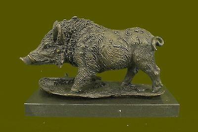 Bronze / Copper Alloy Wild Boar Statue , European Sculpture / Figure / Figurine