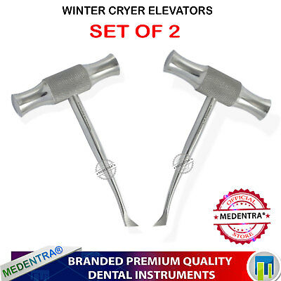 Dental Instruments Winter Cryer Elevator Cross Bar Tooth Extraction 12L,12R